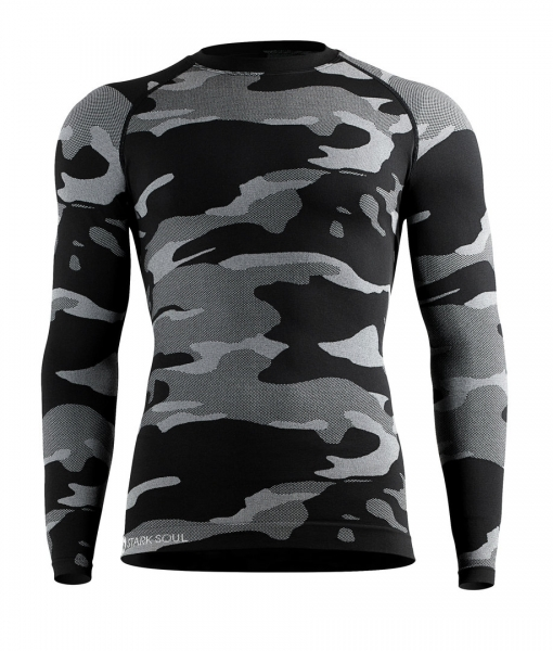 Nahtloses Herren Thermo Funktions-Shirt grau