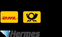 Wir versenden mit DHL-Packstation, Deutsche Post, Hermes