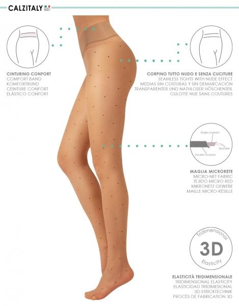 Nahtlose Strumpfhose skin mit Punkte 15 DEN
