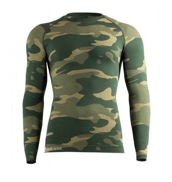Thermofunktionsshirt nahtlos camouflage grün
