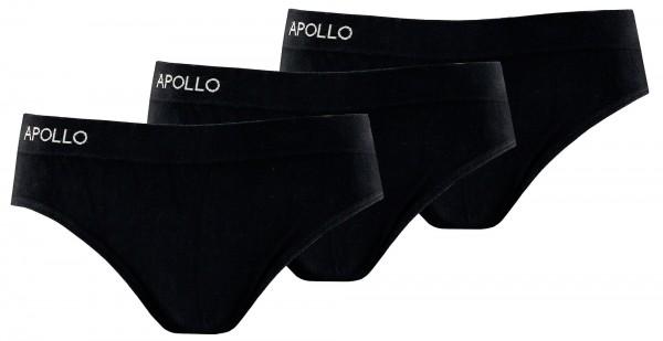 Apollo nahtloser Slip im 3er-Pack, aus 80% Baumwolle